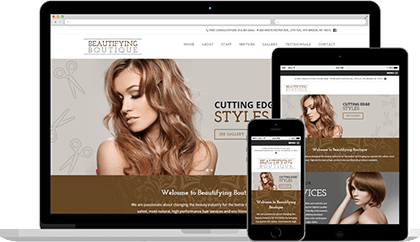 Beautifying Boutique website homepage on various devices