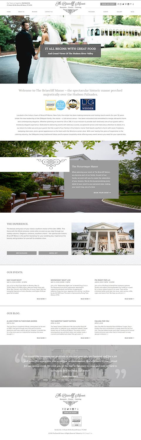 The Briarcliff Manor website homepage