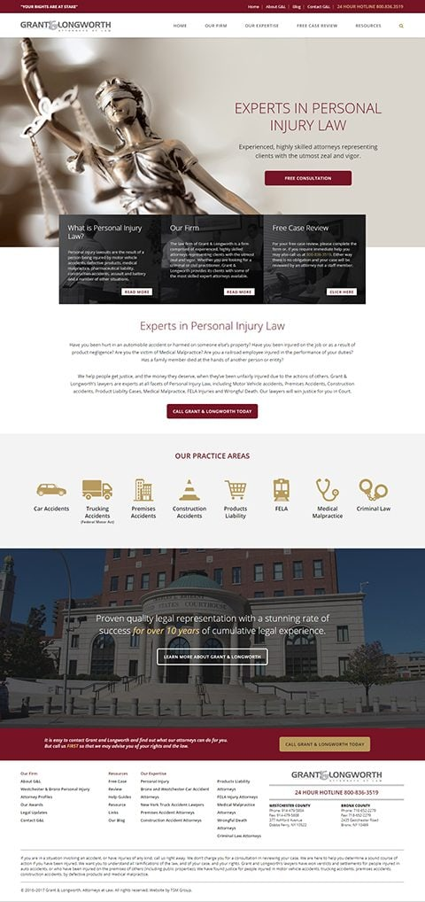 Grant & Longworth website homepage