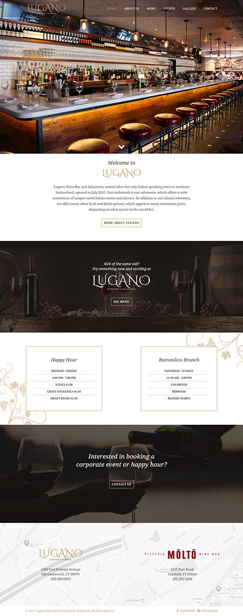 Lugano website homepage