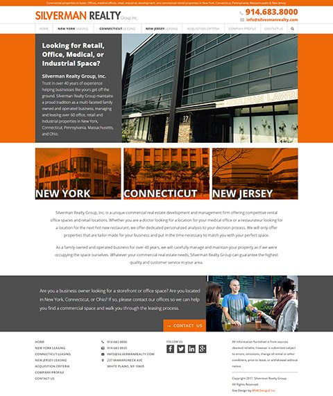 Silverman Realty website homepage