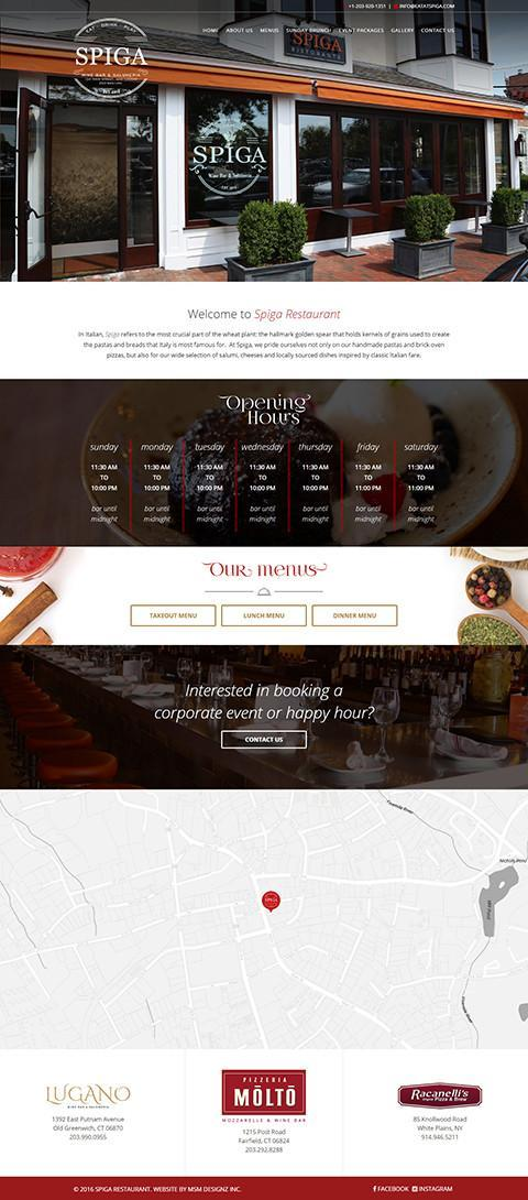 Spiga website homepage