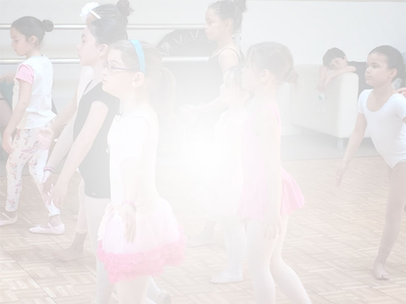 Young children in a dance class