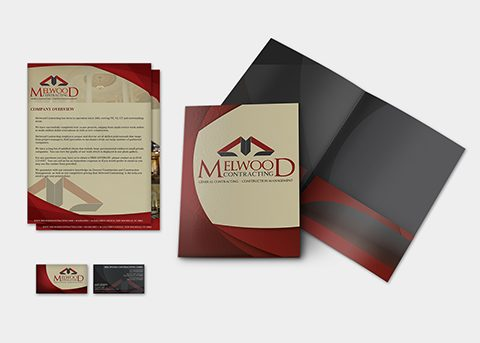 Print/advertising work for Melwood Contracting