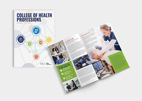 Print/advertising work for Pace University - College of Health Professionals