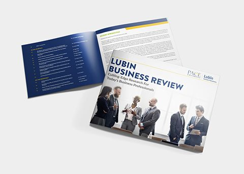 Print/advertising work for Pace University - Lubin School of Business